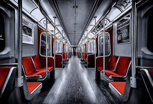 A Subway Car in Toronto by Roland Shainidze