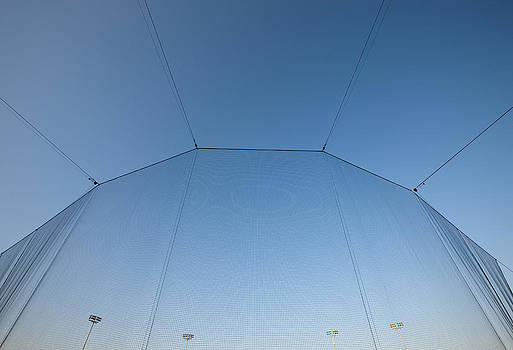 A Tall Screen At A Stadium. Material by Will and Deni McIntyre