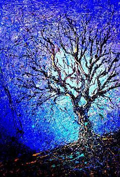 A tree outside my studio by Artist Singh