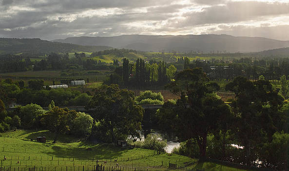 A View of Tasmania's Macquarie Plains by Odille Esmonde-Morgan