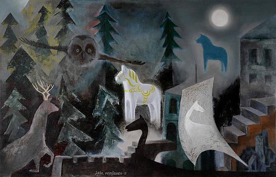 A White Horse by Jukka Nopsanen