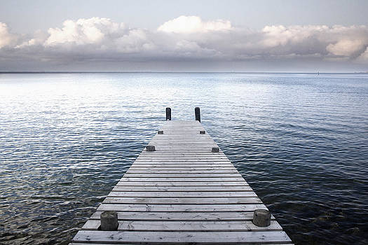 A Wooden Jetty Reaching by Dave and Les Jacobs