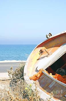 Abandonded Boat in Karlovasi by Maria Varnalis