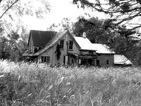 Abandonned Farmhouse in Black and White by Bruce Ritchie