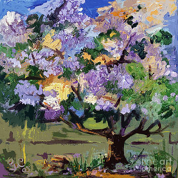 Ginette Callaway - Abstract Blue Tree Landscape