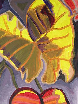 Abstract Elephant Ears by Susan  McNeil