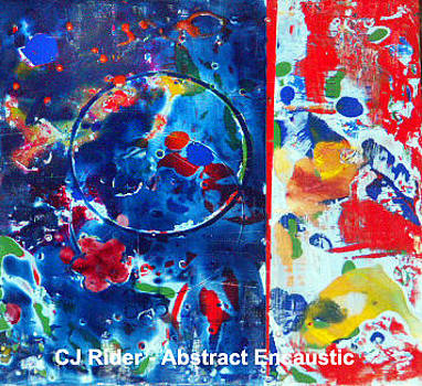 Abstract Encaustic by CJ  Rider