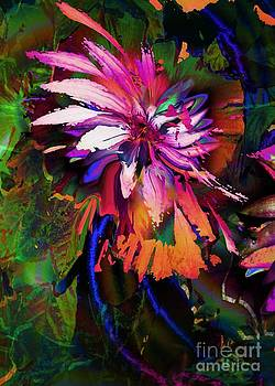 Abstract Flower by Doris Wood