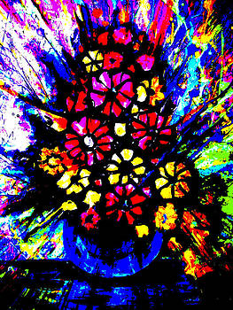 Abstract Flowers by Artist Singh