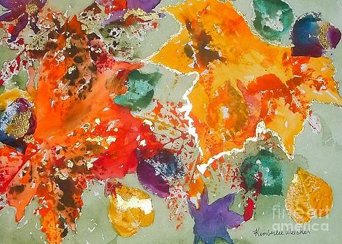 Abstract Leaves Mixed Medium by Kimberlee Weisker