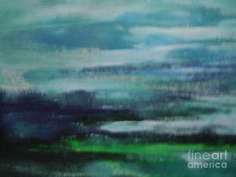 Abstract Misty Blue Sea by Lam Lam