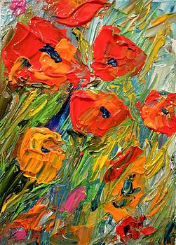 Abstract Poppies by Barbara Pirkle