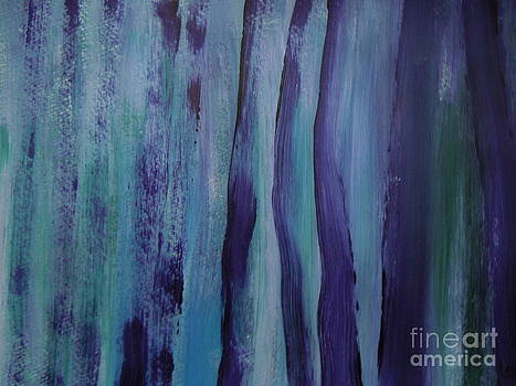 Abstract Purple Forest by Lam Lam