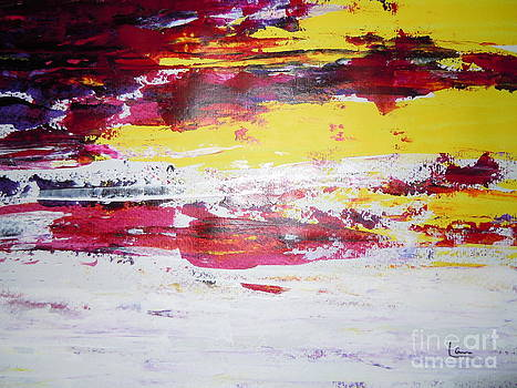 Abstract Purple Yellow Love by Lam Lam