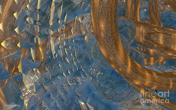 Abstract Water 5 by Marisa Gabetta