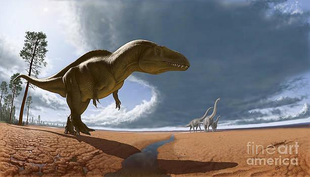 Acrocanthosaurus by Julius Csotonyi