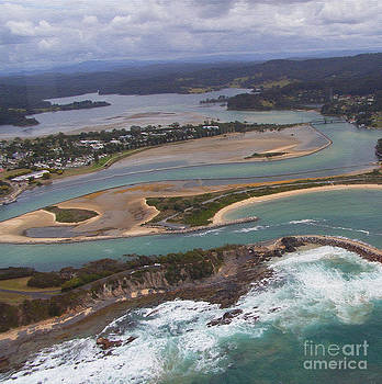 Aerial View of Narooma Inlet by Joanne Kocwin