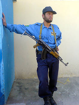 Afghan Security Guard by Yvan Goudard