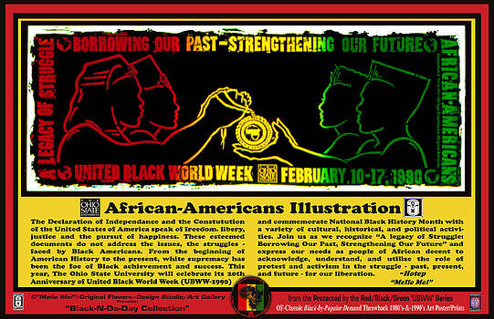 African-Americans Illustration -B by Melvin Robinson