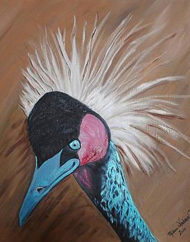 African Crane 2 by Melanie Wadman