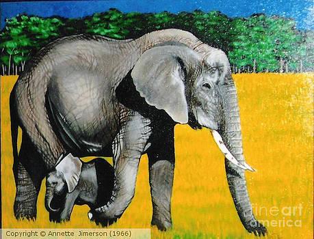 African  Elephants by Annette Jimerson