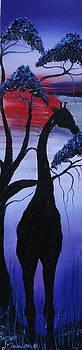 African Purple Blue Sunset 1 by Portland Art Creations