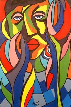 African Series No 5 by Juanita Mulder