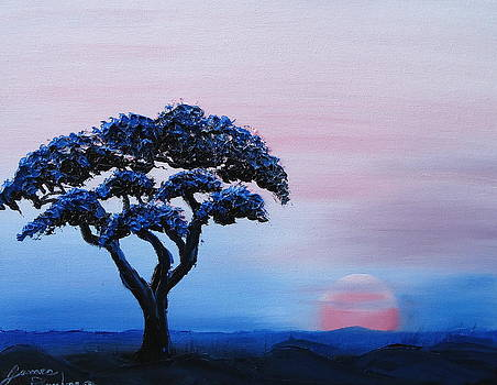 African Tree At Sunset 7 by Portland Art Creations