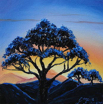 African Tree Sunset 3 by Portland Art Creations