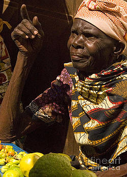 African Woman at Market by Robert  Suggs