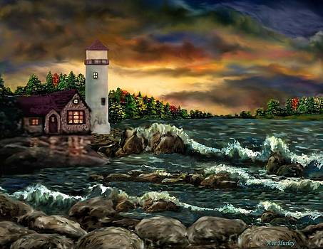 AH-001-015 David's Point Lighthouse  - Ave Hurley by Ave Hurley