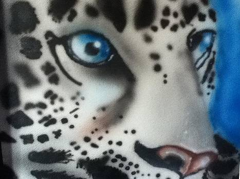 Airbrushed Leopard by Shelby Rawlusyk