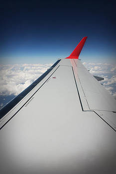 Airbus Wing while Flying by Don Krajewski