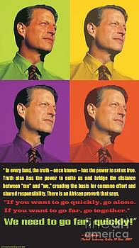 Al Gore Pop Art Poster by Theodora Brown