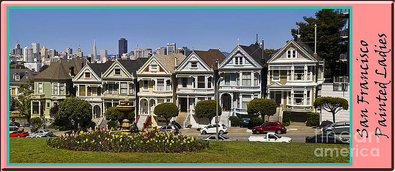 Tim Mulina - Alamo Square Painted Ladies with Border
