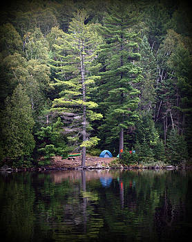 Algonquin campsite by Kristal Kobold