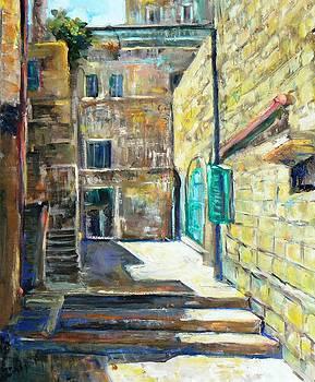 Alley in Jerusakem by Baruch Neria-Kandel