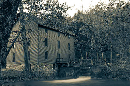 Alley Mill black and white by Clay Swatzell
