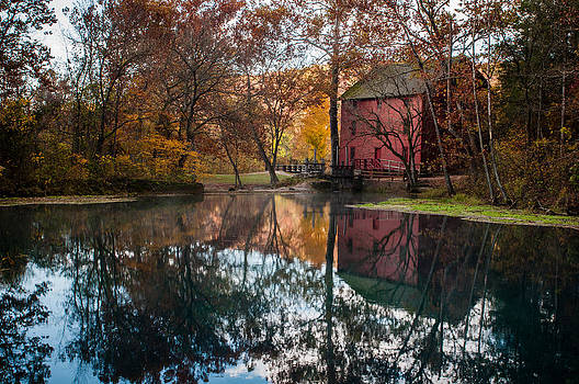 Alley Mill reflection by Clay Swatzell