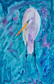 Almost Abstract Egret by Mickey Krause