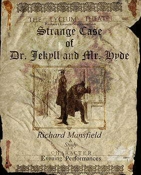 Altered Robert Louis Stevensons Strange Case of Dr. Jekyll and Mr. Hyde Theatre Poster  by Cameron Hampton PSA