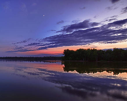 Alum Creek sunset 2 by Dick Wood