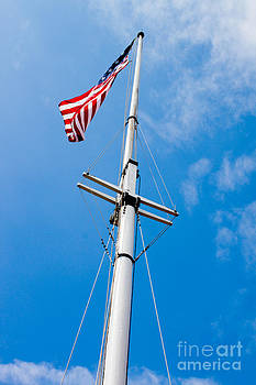 American Flag in Fort McHenry Baltimore Maryland by Thomas Marchessault