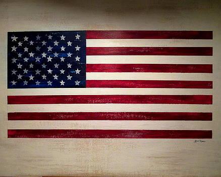 American Flag by Jim  Romeo