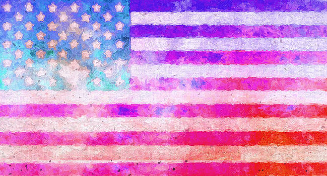 American Flag Painting by Stephen Walker