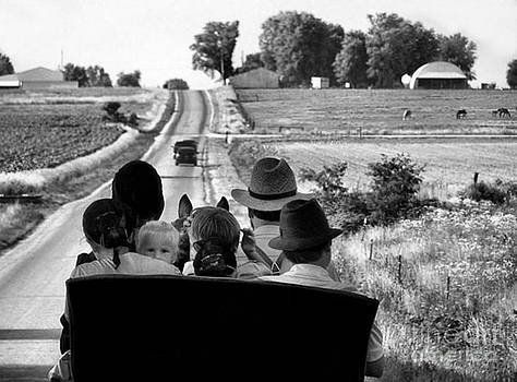 Amish Family Outing by Julie Dant