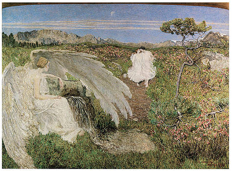 Giovanni Segantini - Amor at the Fountain of Life