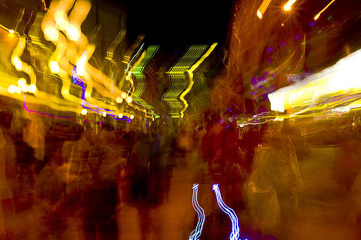 Amusement crowd in motion by Jeffrey Auger