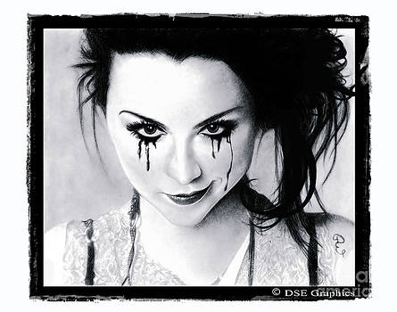 Amy Lee of Evanescence Reworked White by Debbie Engel