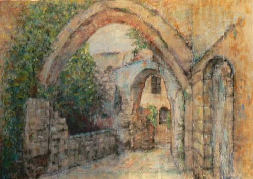 An old alley in Jaffa by Baruch Neria-Kandel
